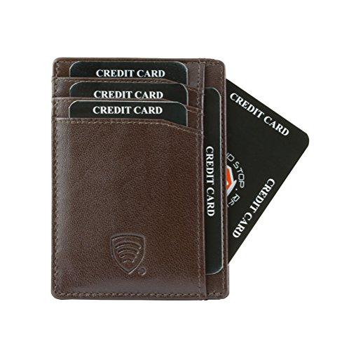 RFID Blocker Schutz Brieftasche echte Leder Hülle (BR3)