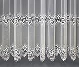 Maßgeschneiderte Dreher Sablé Store Gardine mit Makrammee Stickerei (Spitze), Kräuselband (Universalband), Vorhang nach Maß, Höhe: 90 – 275 cm(110 x 150 cm /HxB)