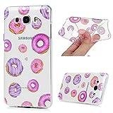 Samsung Galaxy J7 2016 Smartphone Coque de Protection [IMD] - YOKIRIN Phone Case de TPU Souple Ultra Illustration en Couleur - Doughnut