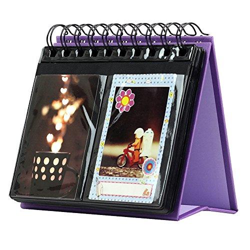 Forusky de 3 pulgadas Calendario de escritorio Álbum de fotos de Instax Mini 8 8+ 9 70 7s 90 25 26 50s, LOMO, cámara Sofort - Purple
