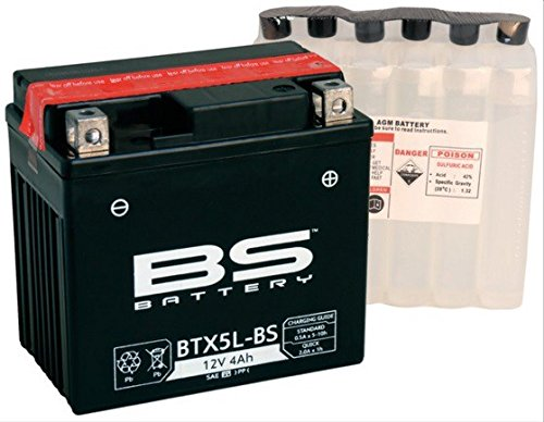 Xfight-Parts Batterie BTX5L-BS 12V 4A DIN 50412 Versiegelt (FA) 113x105x70mm 62100-NAN-01 für Benzhou Yiying Retro Star 50 YY50QT 15