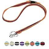 Blueberry Pet 3M Bandes multicolores réfléchissantes orange et noir Mode masculine et féminine anti-étrangelment Porte-clés lanière pour les clés / carte d'identité / porte-badge avec Boucle de libération de sécurité