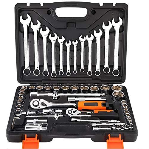 61-teiliges Ratschenschlüssel Steckschlüssel-Kombi-Werkzeug-Set für Auto-Reparatur und Haushalt