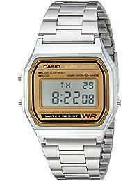 Casio A158WEA-9 Unisex Classic Casual Digital Dial Bracelet Chronograph Alarm Watch