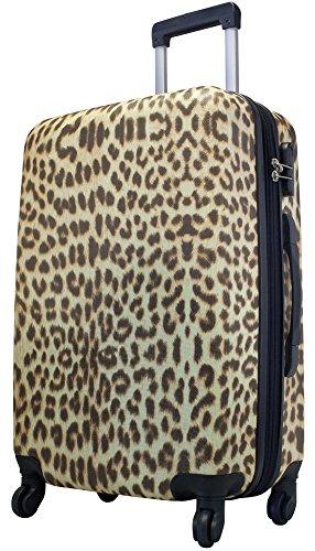 KoTaRu LEOPARD Hartschalenkoffer Trolley Bordgepäck Flugbegleiter Kofferset, Grösse:XL