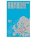 Rubbel Europakarte Europa zum frei rubbeln Scratch off europe map Rubbelkarte Landkarte