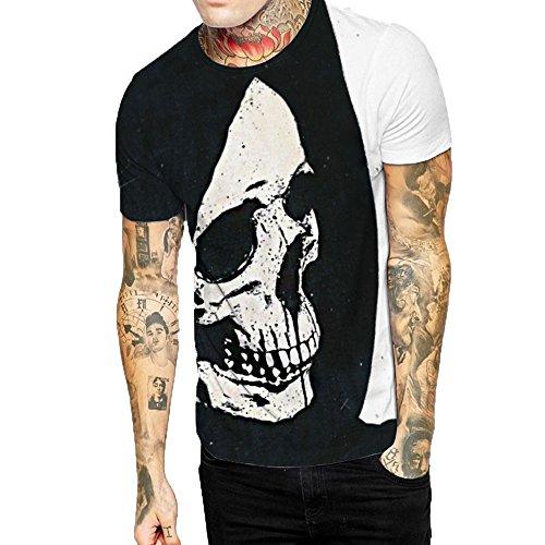 LuckyGirls Camisetas Hombre Color de Hechizo Estampado de Fumar...