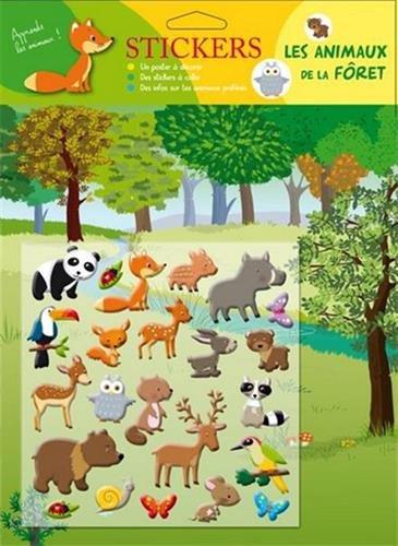 Animaux de la forêt stickers mousses par Collectif