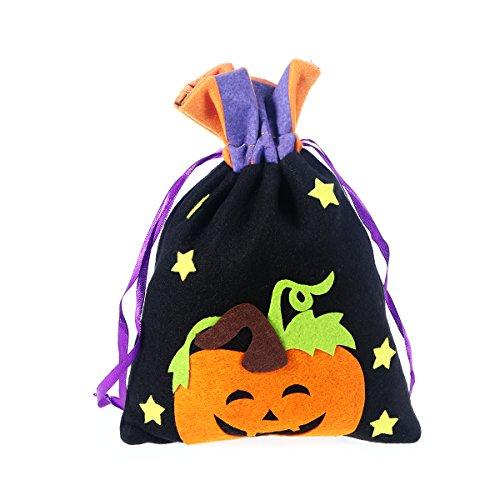 Kürbis Design Kordelzug Geschenk Treat Tasche Kinder Snack Tasche Süßes oder Saures Candy Bag Handtasche für Halloween Cosplay Kostüme Decor Party Gefälligkeiten (Hollween Kostüme)