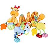 HENGSONG Jouet de poussette bebe Hochet Jouets Animales en Peluche Spirale d'activités Hanging Jouets Girafe