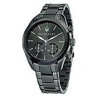 Maserati R8873612002 Men's Watch, Quartz Chronograph, Stainless Steel Grey Bracelet