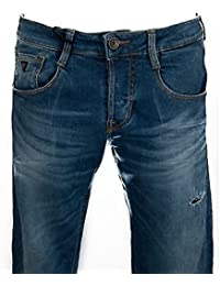 GUESS jeans coupe slim pantalon a. hommes M51AS3 taille D1P40 avec 31. TOWE BLEU