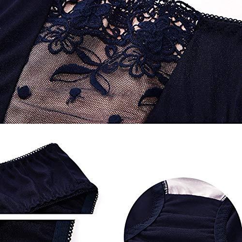 XZ15 BH Large Size Volle Schale dünne Spitze reizvolle Wäsche (Color : Purple, Size : 85B) - 3