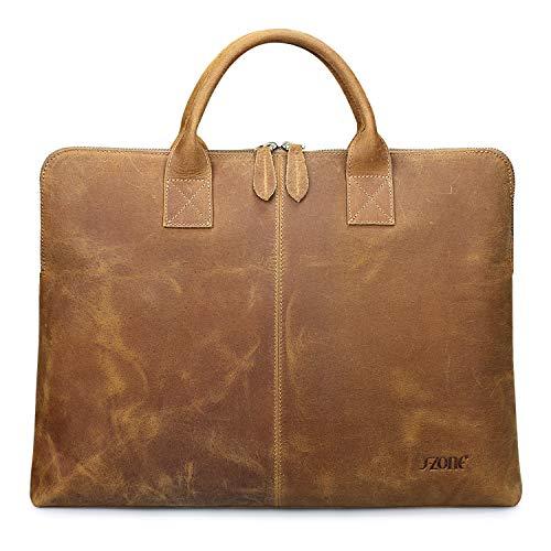 ff779a0602 s-zone 39,6 cm computer portatile borsa Business borsa lavoro valigetta in  pelle