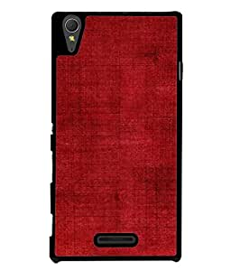 FUSON Designer Back Case Cover for Sony Xperia T3 (Cloth Design Dark Red Maroon Paper Sheet Bloody)