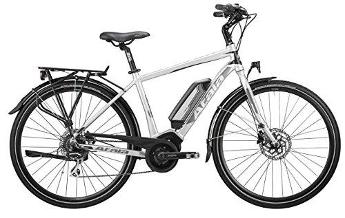 Bicicletta elettrica da trekking e-TKK con pedalata assistita Atala B-TOUR, uomo, misura M, 49cm (160 - 175 cm), 8 velocità, colore ultralight - nero opaco, kit elettrico Bosch