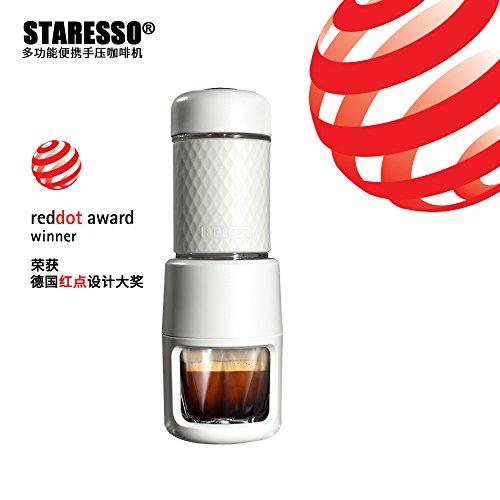 JOWY Staresso Máquina Café Portatil Manual Mini Cafetera Nespresso Multifunción con Cápsulas | Cafetera Eléctrica de Viaje