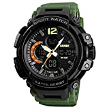 V2A Millitary Green Series S-Shock Analogue-Digital Black Dial Men's Watch - SKM-1343-01