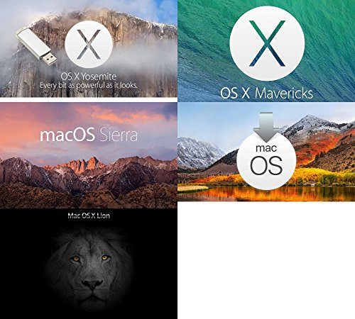 Mac OS X Yosemite + Mac OS X Mountain Lion + Mac os x mavericks + macOS Sierra + MacOs High sierra USB Drive 32GB 5-in-1 Combo pack Install/Upgrade/Recovery/USB Pendrive 32GB