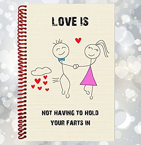 L'amour n'est pas avoir pour tenir votre Farts en–drôle, Rude ordinateur portable, cadeau Saint Valentin