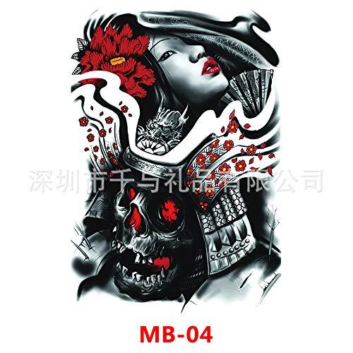 Handaxian Stylisches und schönes Full-Back Tattoo 2 Stück MB-004 340x480mm -