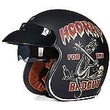 Moto Casque et Velo Bol Lunettes Retro Style de Vintage Harley Casque Moitié Helmets...