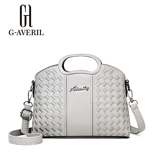 G-AVERIL, Borsa a mano donna viola Purple Grey
