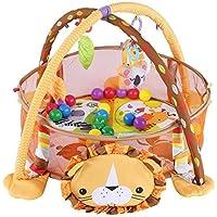 Cocoarm Baby parte Actividad colchoneta de gimnasia, manta para gatear con suave parte arco, con rejilla protectora Malla Multicolor pelotas juguete (León)