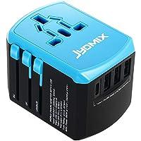 JYDMIX Adaptador de Corriente de Viaje USB Universal 3 Puertos USB Y de Tipo C Cargador de Pared Internacional Universal Enchufe AC Enchufe AC 8 Pines Multipaís