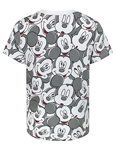 Image of Disney Mickey Mouse Face All Over Print Boy's T-Shirt (9-10 Years)