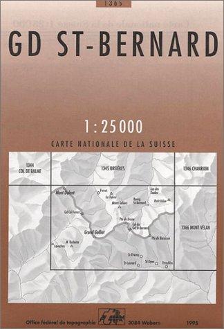 St. Bernard (Landeskarte Der Schweiz) par Collectif