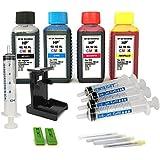 Kit de recarga para cartuchos de tinta HP 62, 62 XL negro y color, tinta de alta calidad incluye clip y accesorios