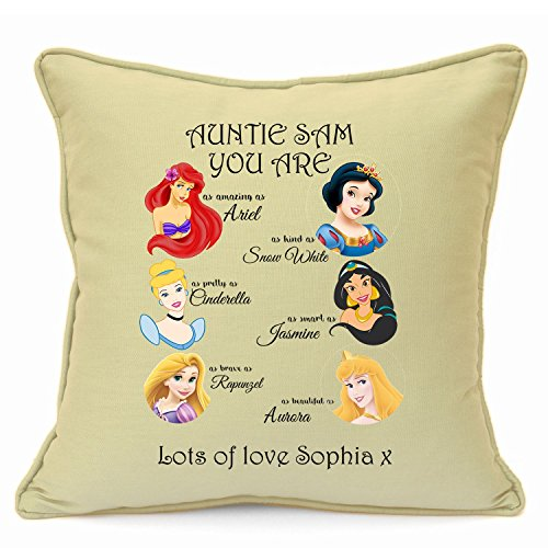 Personalised Presents Gifts For Auntie Mentor Teacher Baby Sitter Family Friends Birthday Christmas Xmas Party Princess Cinderella Snow White Aurora