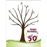 Partyspiel Geburstagsbaum Zahlen, Fingerabdruckbaum als Geschenk zum 18, 20, 30, 40, 50, 60, 70, 75 uvm