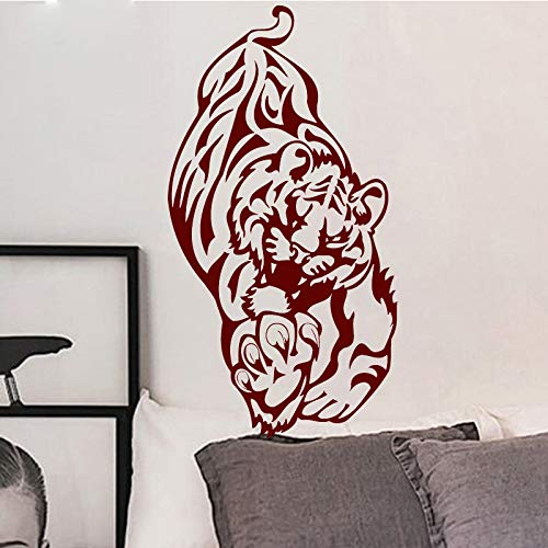 Offensive Lion Selbstklebende Wandaufkleber Dekoration Zubehör Tapete Vinyl Art Decor 58 * 109 cm