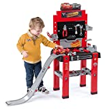 Ideal Smoby Cars Werkbank Center mit Sprungschanze Kinder Spielzeug Reperaturbank