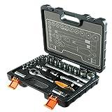 STACO 63022 - Juego de herramientas (llaves de vaso y carraca, 1/2...