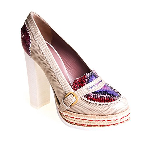 Hilfiger Collection Damen Pumps Leder Beige , Schuhgröße:37