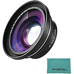 Andoer 30 mm 37 mm - X Full HD Grand angle objectif macro pour Ordro Andoer Digital Video Camera caméscope