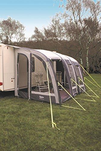 Leisurewize new ontario 280 + air-tenda veranda per roulotte, colore: grigio/carbone