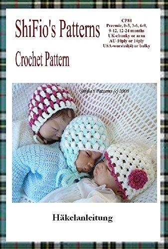 Häkelanleitung - CP84 - Babymütze 5 Größen - Deutsch (Häkelanleitungen Baby-hüte)