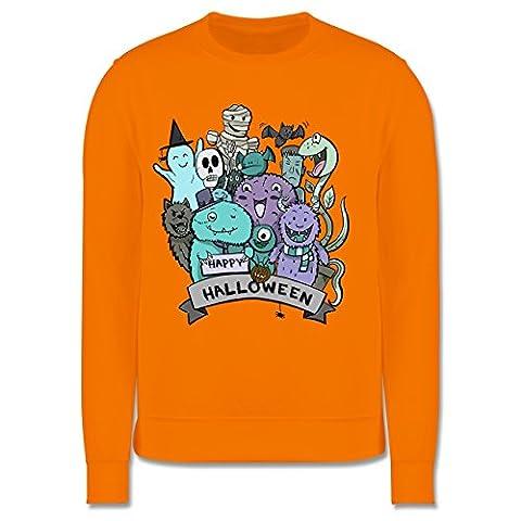 Anlässe Kind - Happy Halloween Monster - 3-4 Jahre (104) - Orange - JH030K - Kinder Premium (Gute Halloween-kostüme Für Gruppe 3)