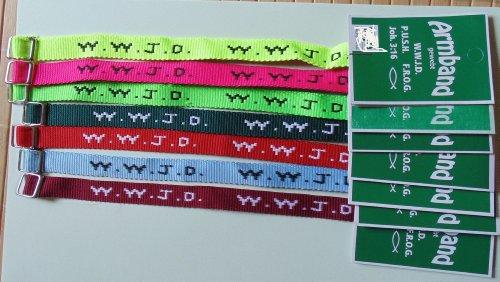 W.W.J.D. - Armband 10er-Pack - WWJD