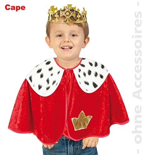 FRIES Kinder Kostüm König Prinz Cape Umhang Karneval Fasching ()