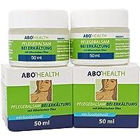 ABOHEALTH Erkältungsbalsam Pflegebalsam bei Erkältung mit Eukalyptus und ätherischen Ölen, 100ml (2 x 50 ml) Doppelpack preisvergleich bei billige-tabletten.eu
