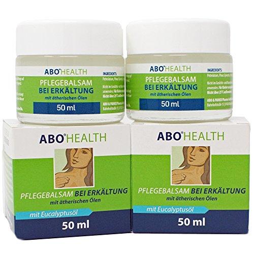 ABOHEALTH Erkältungsbalsam Pflegebalsam bei Erkältung mit Eukalyptus und ätherischen Ölen, 100ml (2 x 50 ml) Doppelpack