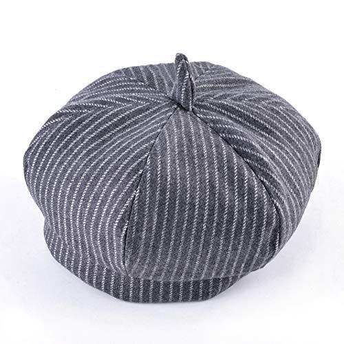 UVYANG Jungen Baumwolle Baskenmütze Hut Frühling Und Herbst Kinder Gestreiften Newsboy Caps Grils Outdoor Mode Komfortable Kinder