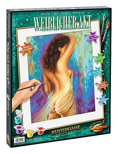 Schipper 609130742 - Malen nach Zahlen - Weiblicher Akt, 40 x 50 cm
