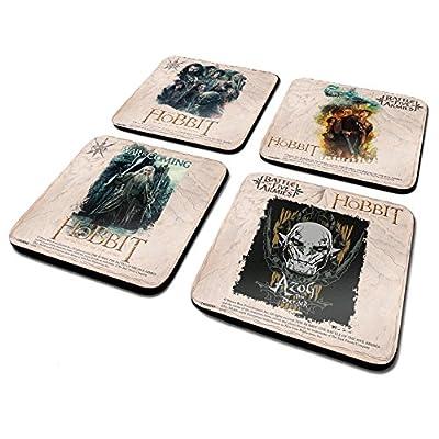 Le Hobbit la Bataille des Cinq Armées Dessous de Verre, Lot de 4