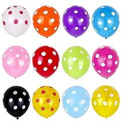 Idea Regalo - Palloncini da festa, 50 pezzi, 30,5 cm, palloncini colorati a pois, decorazioni per feste di compleanno per bambini, palloncini a pois per Pasqua, feste per bambini, compleanni e feste per bambini 1